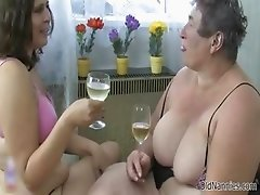 Nasty old whore gets horny