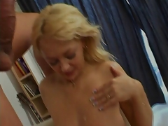 French milf gets hard fucked and facialized