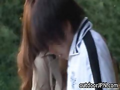 Ai Sayama Japanese babe has outdoor sex part2