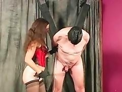 Mistress delivers CBT and ball busting