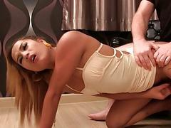 Ladyboy Ploy Short Dress Creampie
