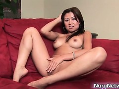 Amazing hot brunette asian whore part2