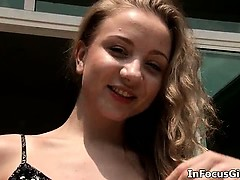 Firm and curly blonde teen loves showing part6
