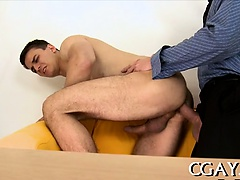 Messy blowjob for lusty homo