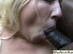 Huge blonde interracial anal and pussy creampies