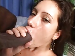 Huge dick in her asshole