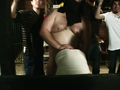 Straight frat pledges mouth fucked hard