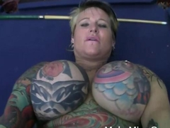Hot inked Brunette Rides On A Very Big Dick