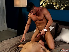Cody straddles Luke's face and fucks his slobbering mouth