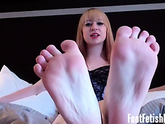 You haven't been able to take your eyes off my feet ever