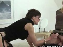 Lady Sonia is a femdom queen pleasing the man